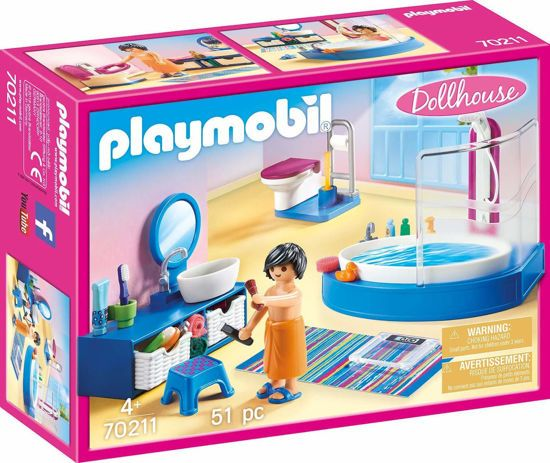 Picture of Playmobil Πολυτελές Λουτρό Με Μπανιέρα 70211