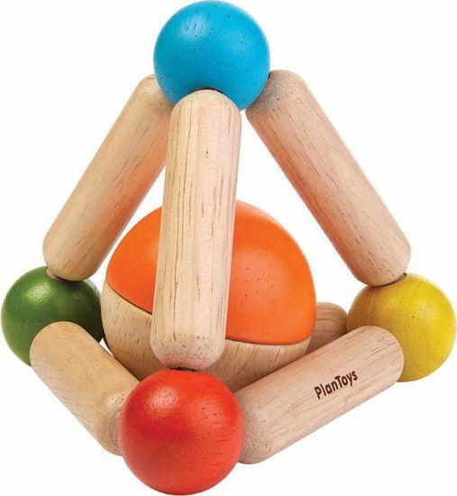 Picture of Plan Toys - Ξύλινη πυραμίδα με μπάλα 5244