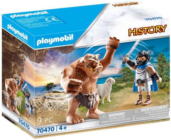 Picture of Playmobil Ο Οδυσσέας Και Ο Κύκλωπας Πολύφημος 70470