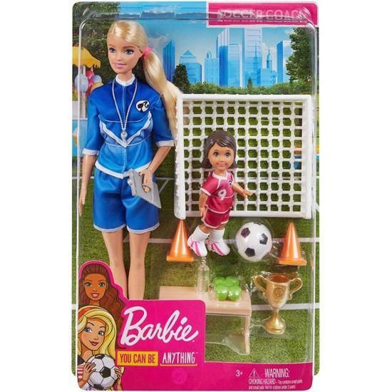 Picture of Mattel Barbie Soccer Coach Playset Σετ Αθλητικά Επαγγέλματα Με Ξανθιά Κούκλα Και Αξεσουάρ GLM53 / GLM47