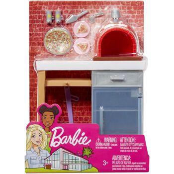 Picture of Mattel Barbie Έπιπλα Εξωτερικού Χώρου - Φούρνος Πίτσας FXG37 / FXG39