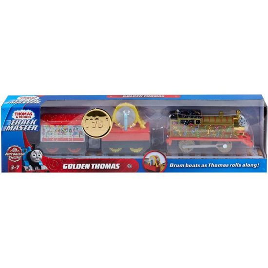 Picture of Fisher-Price Thomas And Friends Trackmaster Golden Thomas Με 2 Βαγόνια BMK93 / GHK79