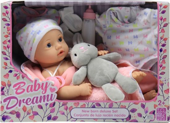 Picture of Baby Dream - Κούκλα Μωρό 40εκ Με Ζωάκι & Αξεσουάρ