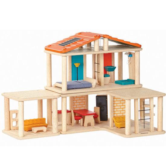 Picture of Plan Toys - Δημιουργικό Kουκλόσπιτο (εξοπλισμένο)