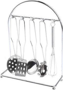 Picture of Zita Toys Σταντ Με Ανοξείδωτα Σκεύη Κουζίνας 7τμχ (008.555-BX012)