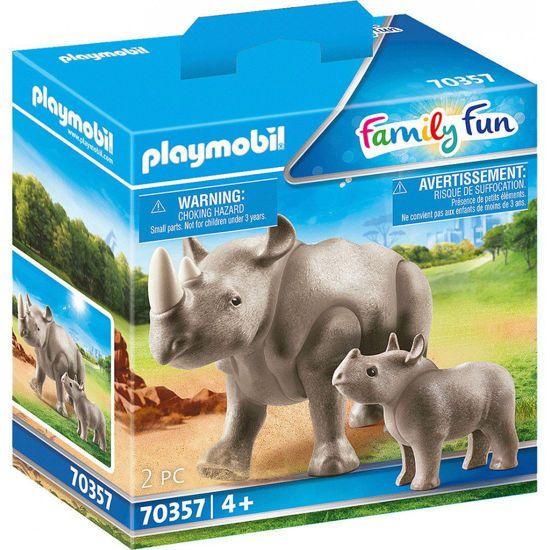 Picture of Playmobil Family Fun Ρινόκερος Με Το Μικρό Του 70357