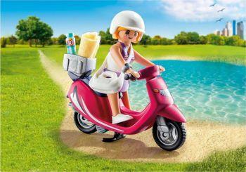 Picture of Playmobil Κοπέλα Mε Σκούτερ 9084