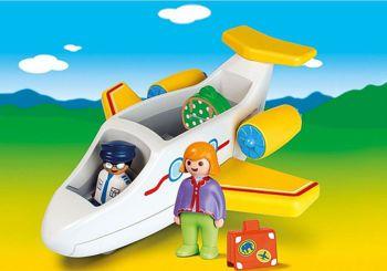 Picture of Playmobil 1.2.3 Αεροπλάνο Με Επιβάτη 70185