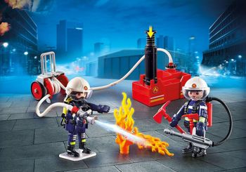 Picture of Playmobil City Action Πυροσβέστες Με Αντλία Νερού 9468