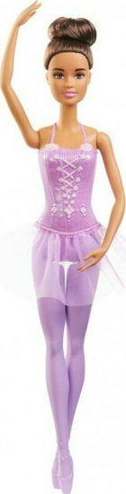 Picture of Mattel Barbie Μπαλαρίνα Μελαχρινά Μαλλιά Με Tutu Φούστα Μωβ GJL58/GJL60