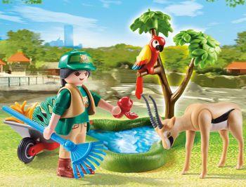 Picture of Playmobil Family Fun Gift Set Φροντιστής Ζωολογικού Κήπου Mε Zωάκια 70295