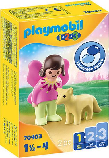 Picture of Playmobil 1.2.3 Νεράιδα Με Αλεπού 70403