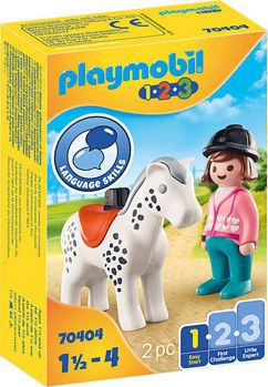 Picture of Playmobil 1.2.3 Αναβάτρια Με Άλογο 70404