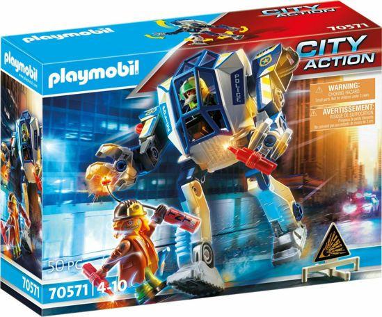 Picture of Playmobil City Action Αστυνομικό Pομπότ Και Ληστής 70571