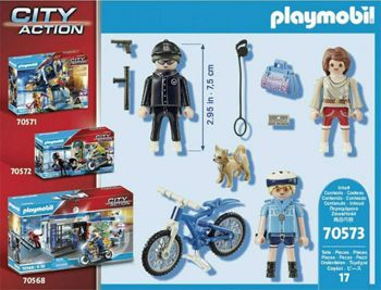 Picture of Playmobil City Action Αστυνομικός Με Ποδήλατο Και Πορτοφολάς 70573