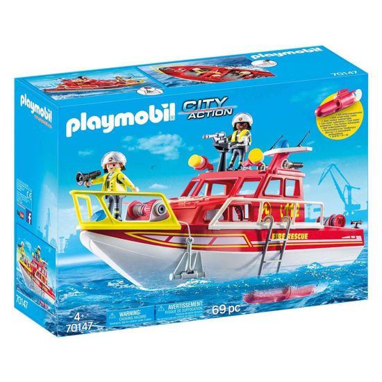 Picture of Playmobil City Action Πυροσβεστικό Σκάφος Διάσωσης 70147