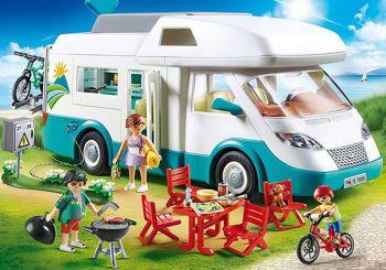 Picture of Playmobil Family Fun Αυτοκινούμενο Οικογενειακό Τροχόσπιτο 70088