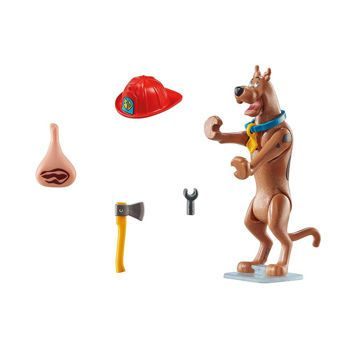 Picture of Playmobil Scooby Doo Συλλεκτική Φιγούρα Scooby Πυροσβέστης 70712