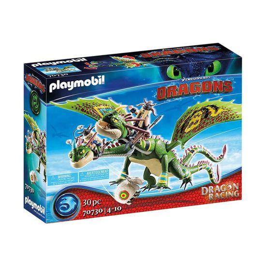 Picture of Playmobil Dragons Πέτρος Και Πέτρα Με Δικέφαλο Δράκο Ρέψιμο Και Αναγούλα 70730