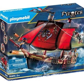 Picture of Playmobil Pirates Πειρατική Ναυαρχίδα 70411