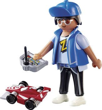 Picture of Playmobil Playmo Αγόρι Με Τηλεκατευθυνόμενο Αυτοκινητάκι 70561