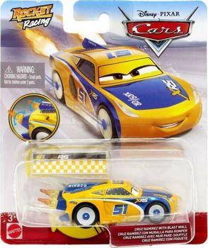 Picture of Mattel Disney Pixar Cars Rocket Racing Αυτοκίνητα Cruz Ramirez Με Τοίχο GKB87 / GKB89