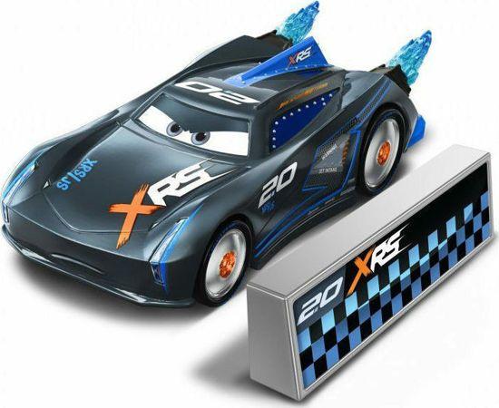 Picture of Mattel Disney Pixar Rocket Racing Jackson Storm With Blast Wall GKB90 / GKB87