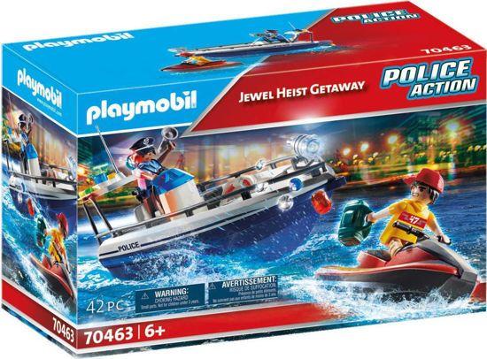 Picture of Playmobil Police Action Αστυνομικό Ταχύπλοο Και Ληστής Με Jet Ski 70463