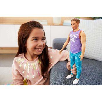 Picture of Mattel Ken Fashionistas Με Μωβ Μπλούζα Malibu DWK44/GRB89