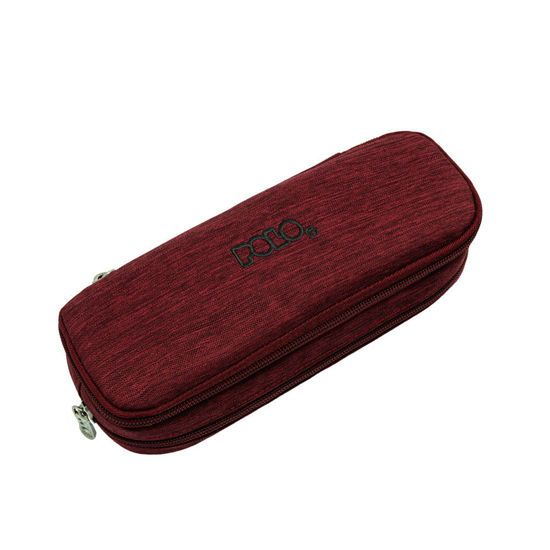 Picture of Polo Κασετίνα Οβάλ Pencil Case Duo Box Μπορντώ 2021