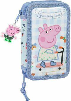 Picture of Safta Peppa Pig Σχολική Κασετίνα Διπλή Γεμάτη