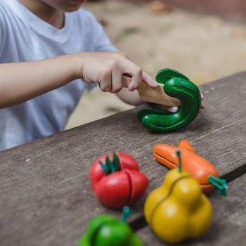 Picture of Plan Toys Σετ φρούτα Και Λαχανικά 3495