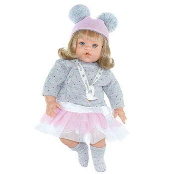 "Picture of Lamagik Magic Baby Χειροποίητη Κούκλα 47εκ Που Κλαίει ""Susy Pink Hat"" (MB47020)"