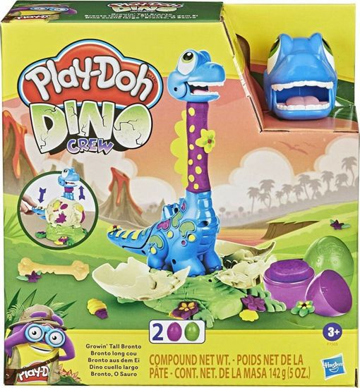Picture of Hasbro Play-Doh Πλαστελίνη Dino Crew Growin Tall Bronto F1503