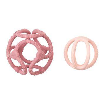 Picture of Nattou Silicon Σετ 2 Μασητικές Μπάλες Σιλικόνης (Ροζ-Απαλό Ροζ)
