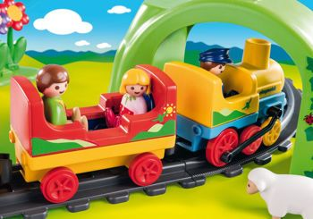 Picture of Playmobil 1.2.3 Σετ Τρένου Mε Zωάκια Και Επιβάτες 70179