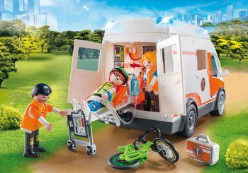 Picture of Playmobil City Life Ασθενοφόρο Με Διασώστες 70049